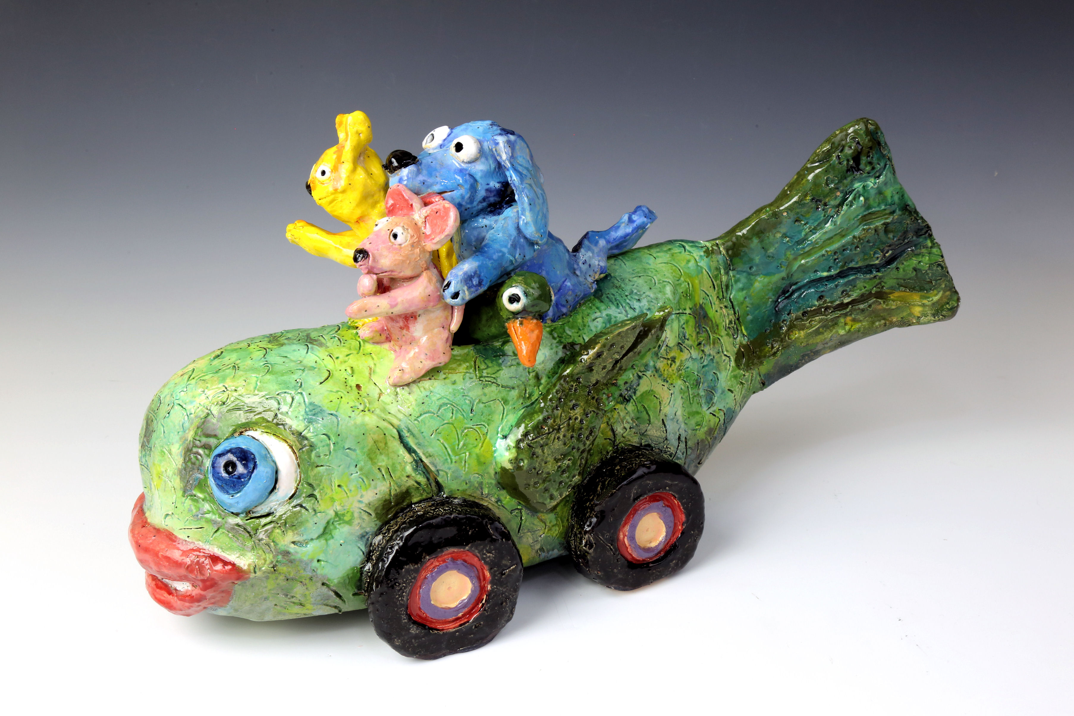 A clay fishcar